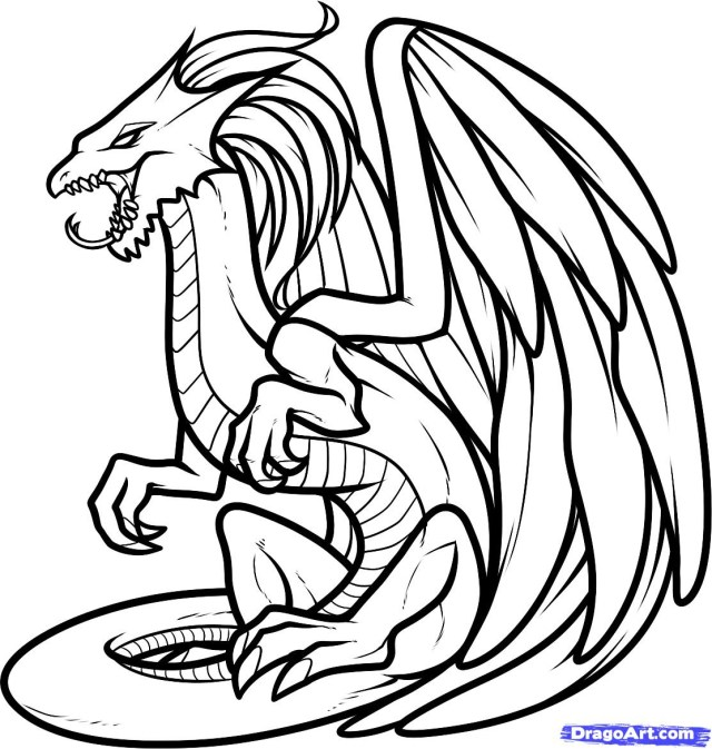 Dragon Coloring Pages For Adults Realistic Dragon Coloring Pages Throughout Inside Coking Me With To