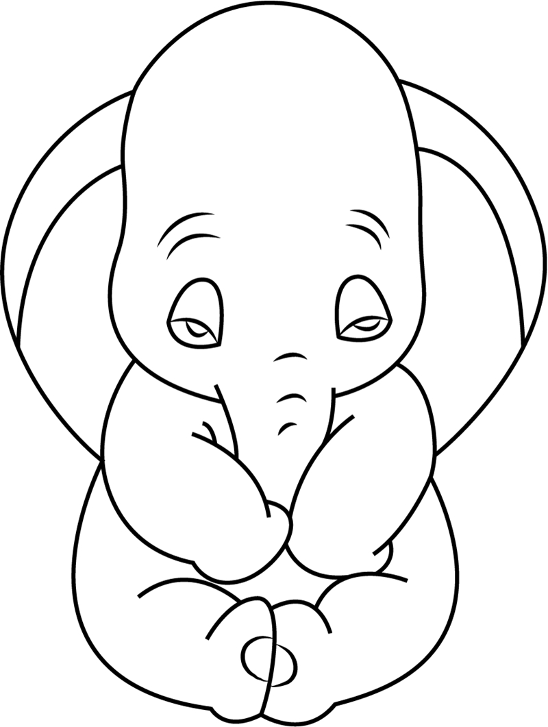 Dumbo Coloring Pages Dumbo Coloring Pages Cute Page Free Printable For Kids 8001061