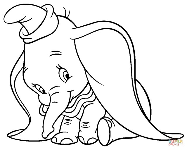 Dumbo Coloring Pages Dumbo Coloring Pages Free Coloring Pages