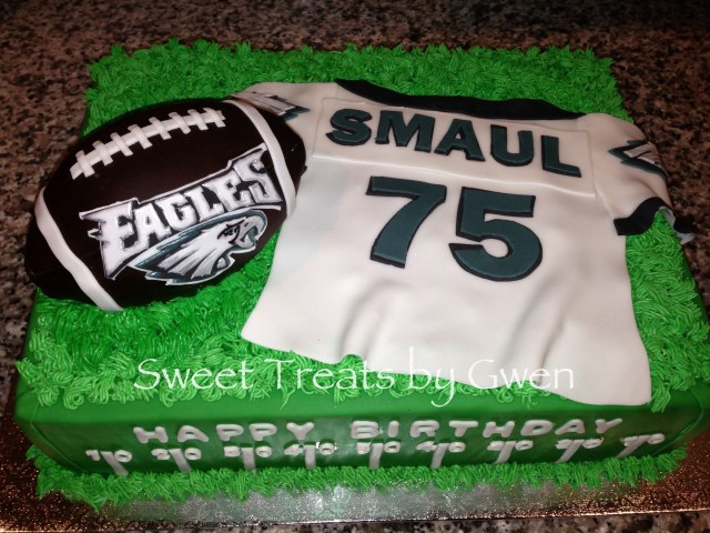 Eagles Birthday Cake Philadelphia Eagles Cake Fondant Personalized Jersey Football Is