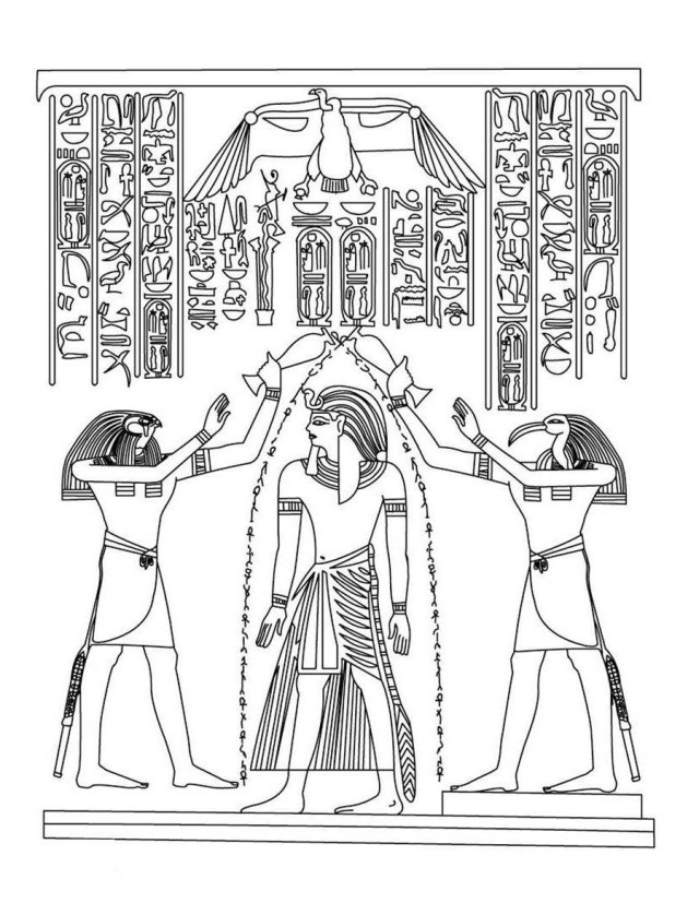 Ancient Egyptian Gods Colouring Pages for Kids | 827x640