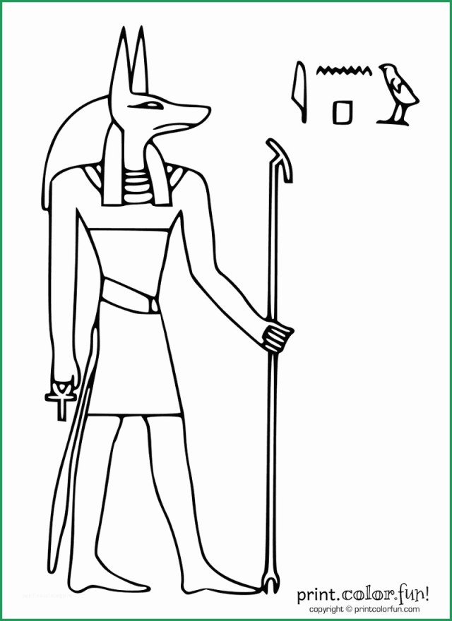 Egyptian Coloring Pages Egyptian Coloring Pages Printable Great Egyptian God Anubis Coloring