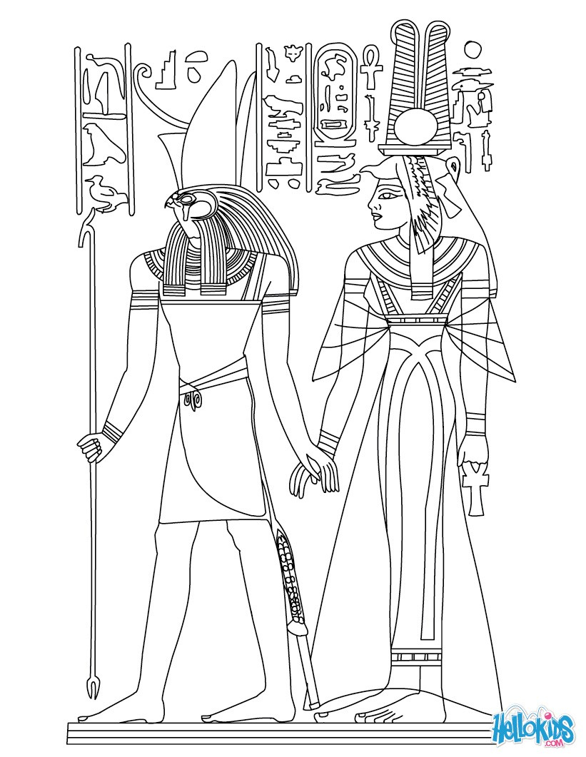 Egyptian Coloring Pages Gods And Goddesses Of Ancient Egypt Coloring Pages Coloring Pages