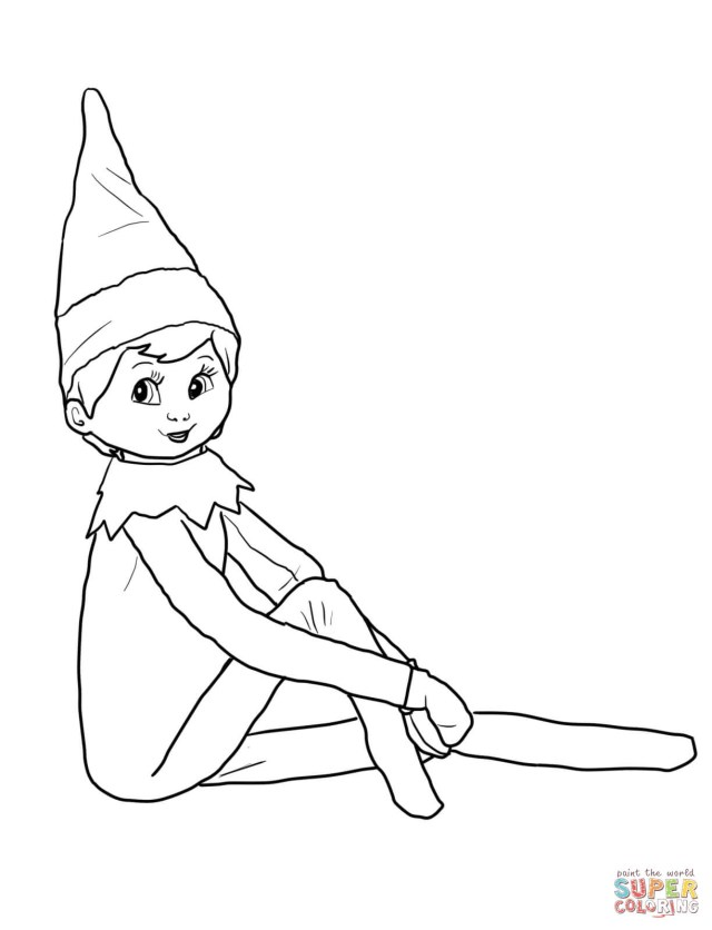 Elf On The Shelf Coloring Pages Elf On The Shelf Coloring Pages Free Coloring Pages