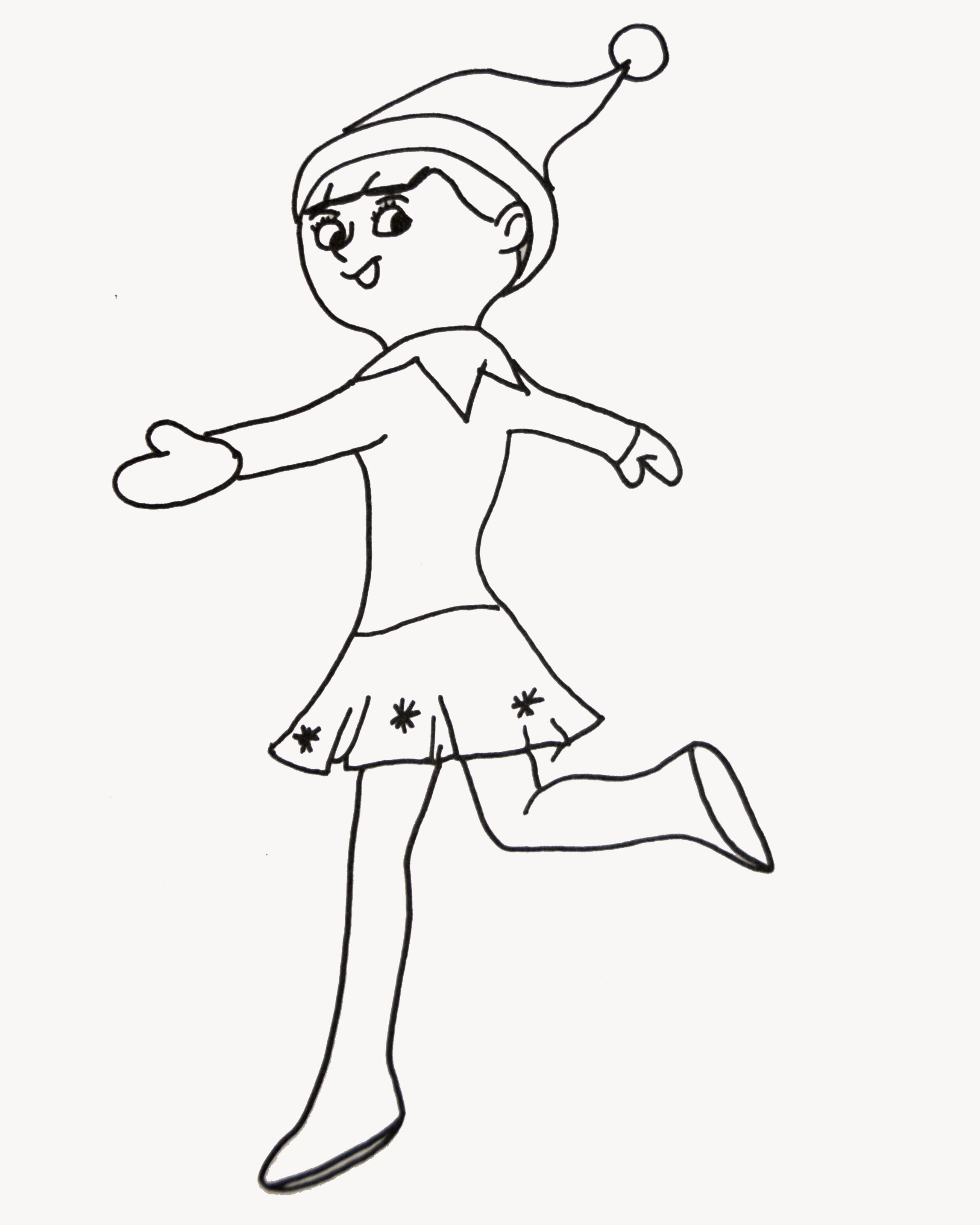 image regarding Elf on the Shelf Printable Coloring Pages referred to as Elf Upon The Shelf Coloring Web pages Elf Upon The Shelf Coloring