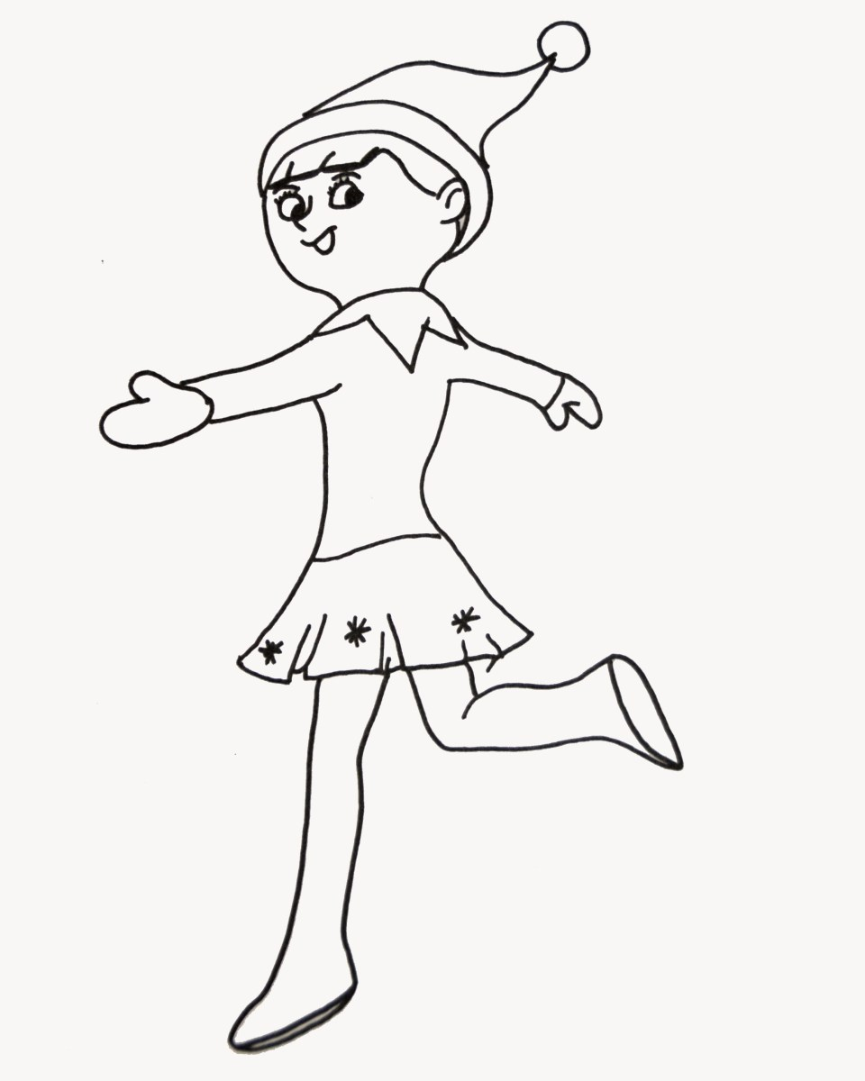 Elf On The Shelf Coloring Pages Elf On The Shelf Coloring Pages