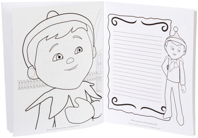Elf On The Shelf Coloring Pages Elf On The Shelf Coloring Pages To Print Coloring Home