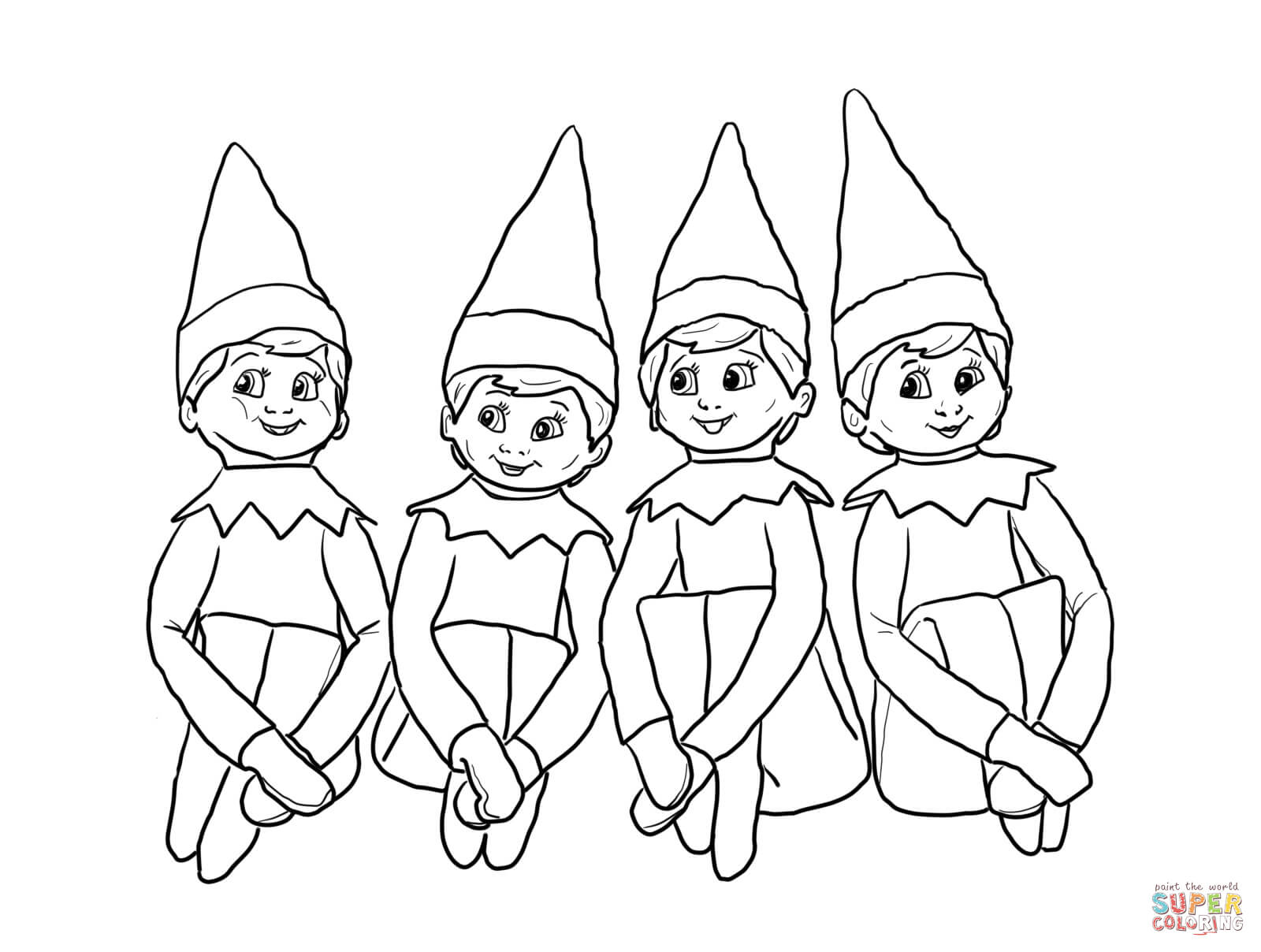 - 21+ Excellent Photo Of Elf On The Shelf Coloring Pages - Birijus.com