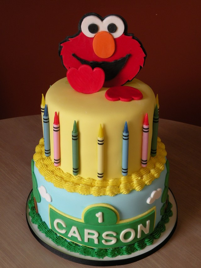 Elmo Birthday Cakes Elmo 1st Birthday Cake Elmo Cake Made For A 1st Birthday Client
