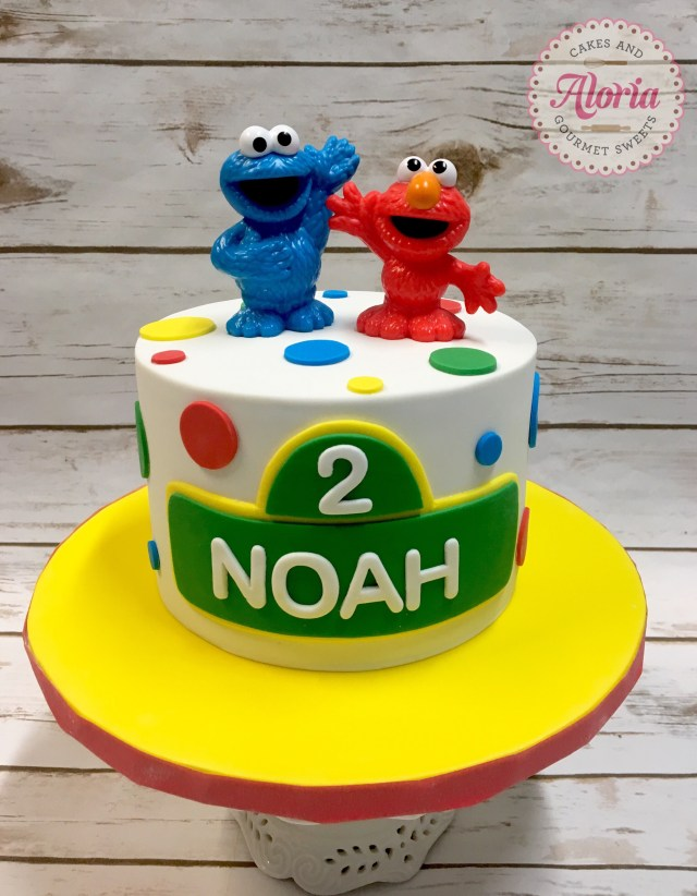 Elmo Birthday Cakes Sesame Street Cake Birthday Cake Elmo Cookie Monster Birthday