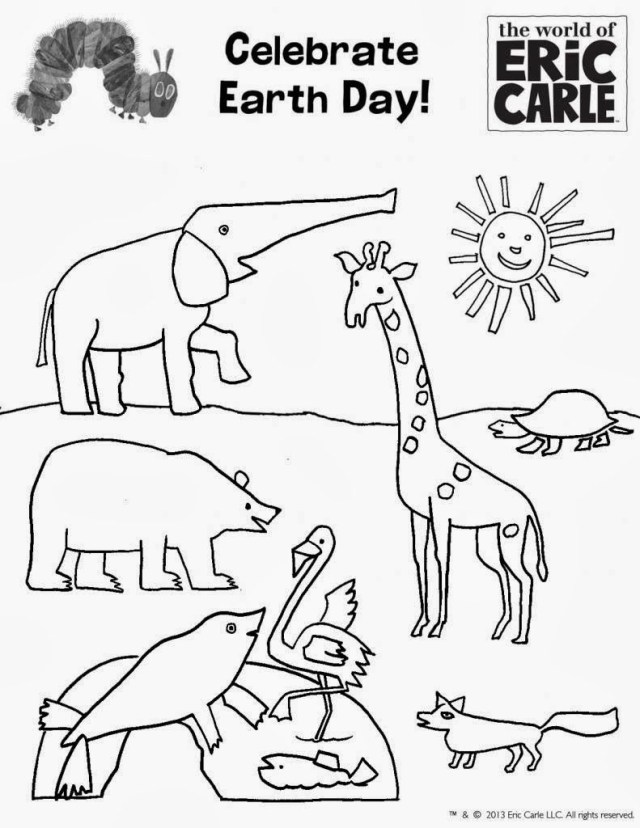 Eric Carle Coloring Pages Coloring Pages Best Photos Of Earth Coloring Pages For Preschoolers