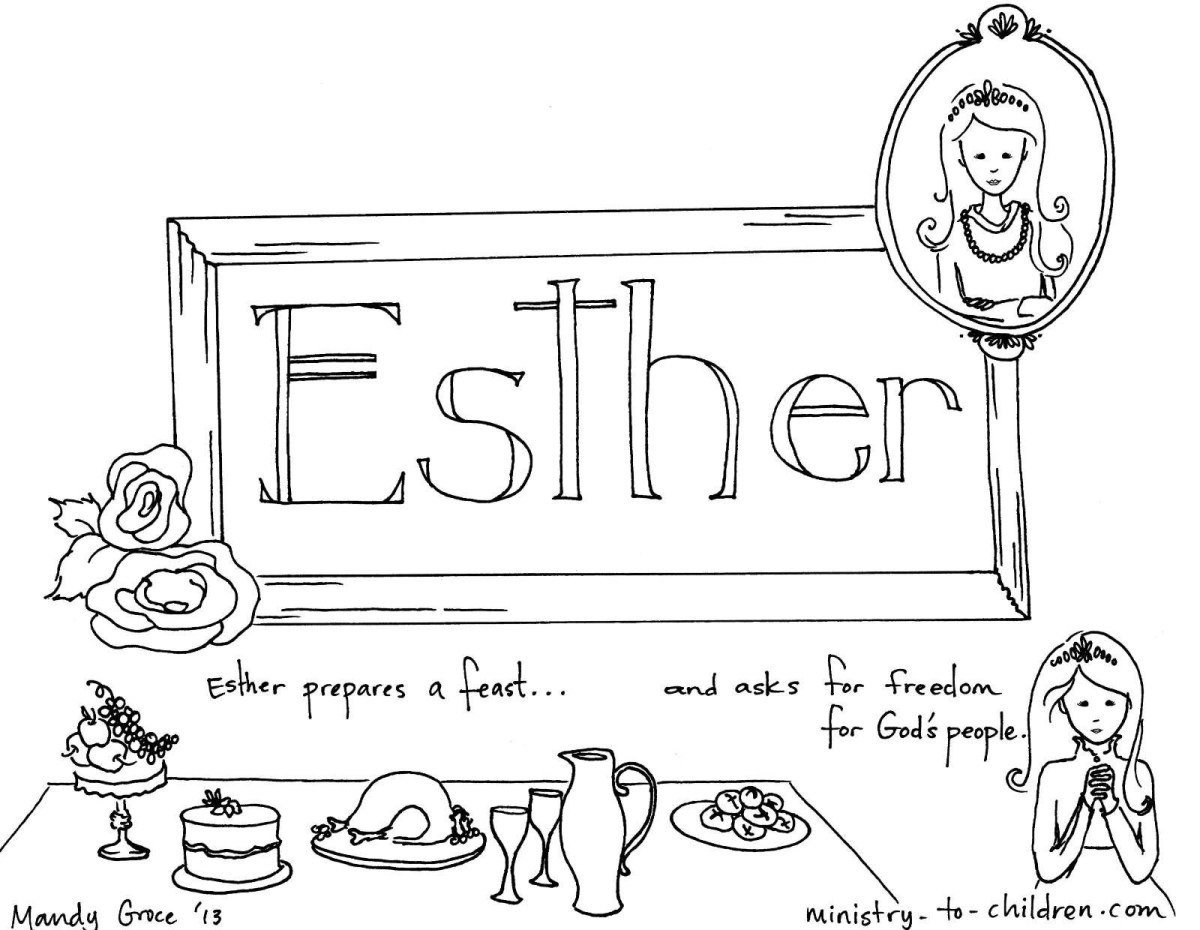 Apollinaire Leanna Free Coloring Pages Esther And Mordecai