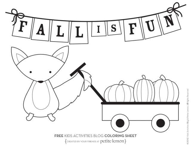 Fall Coloring Pages For Kids Free Autumn And Fall Coloring Pages