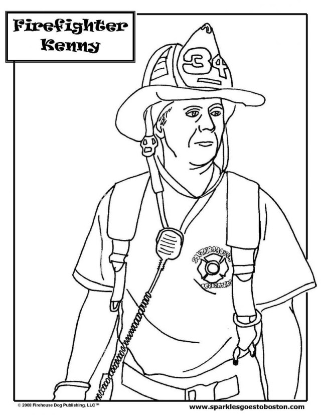Firefighter Coloring Pages Firefighter 50 Jobs Printable Coloring Pages