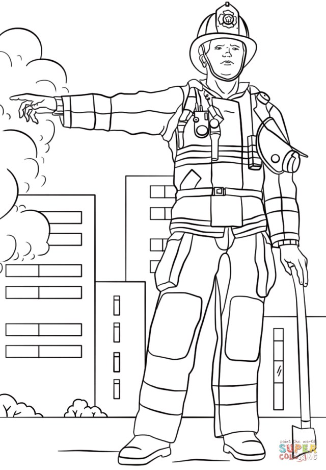 Firefighter Coloring Pages Firefighter Coloring Page Free Printable Coloring Pages
