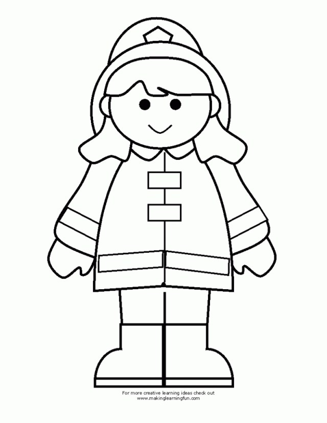 Firefighter Coloring Pages Girl Firefighter Coloring Pages For Kids Coloringstar