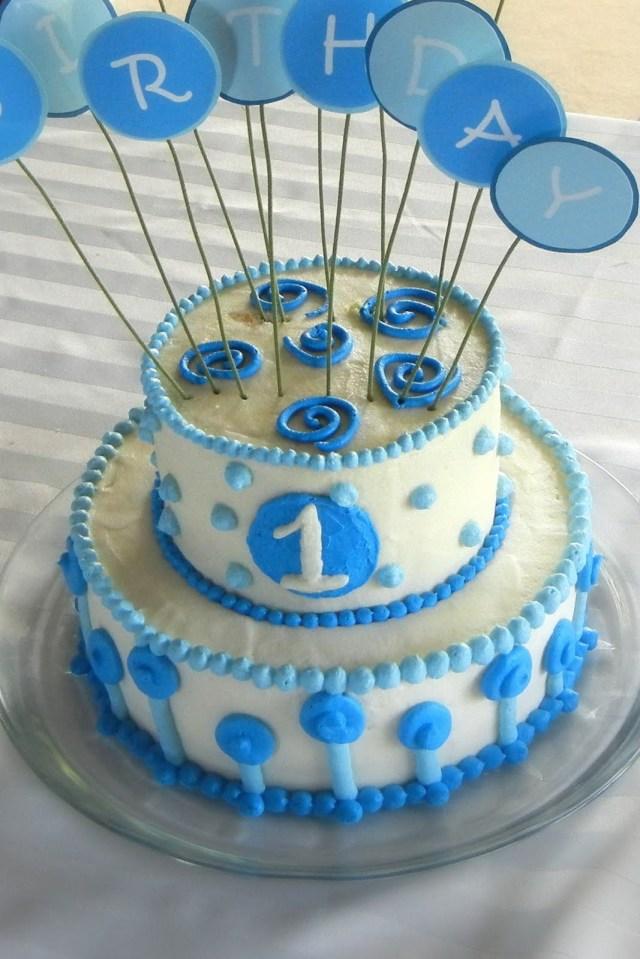 First Birthday Cake Boy 11 Simple Individual Cakes Ba Bday Photo