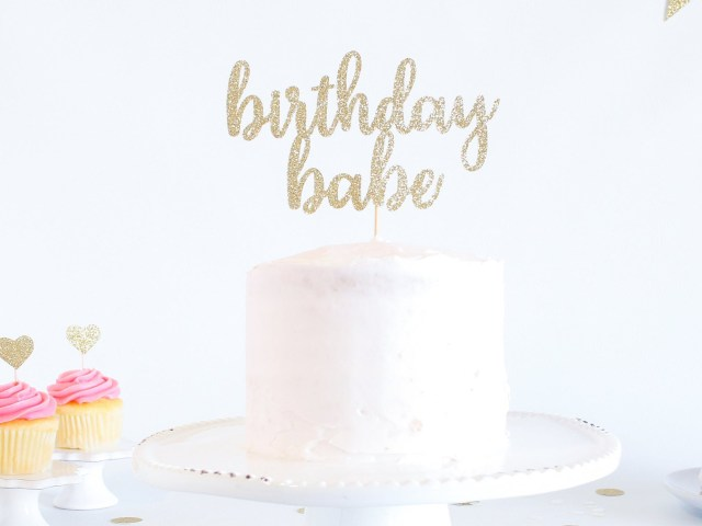 First Birthday Cake Toppers Birthday Babe Cake Topper Glitter Smash Cake Topper First
