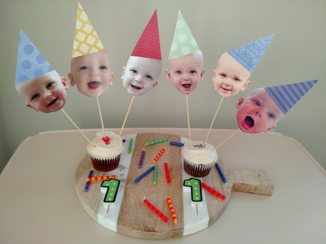 First Birthday Cake Toppers Creative Twins 1st Birthday Party Ideas
