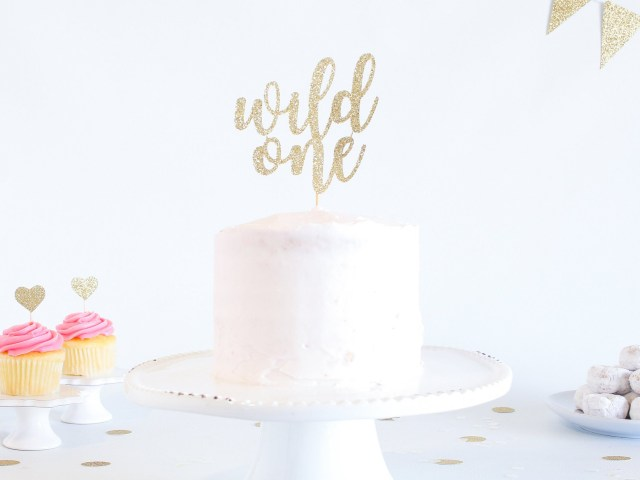 First Birthday Cake Toppers Wild One Cake Topper Glitter 1st Birthday Smash Cake Topper