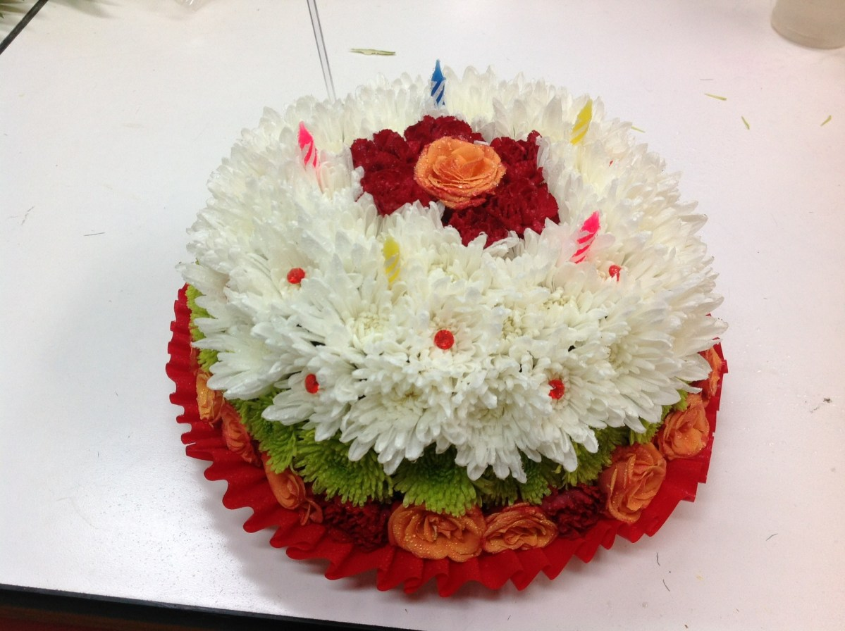 Fantastic Flower Birthday Cakes Flower Birthday Cake In Portland Or Zaras Funny Birthday Cards Online Aboleapandamsfinfo
