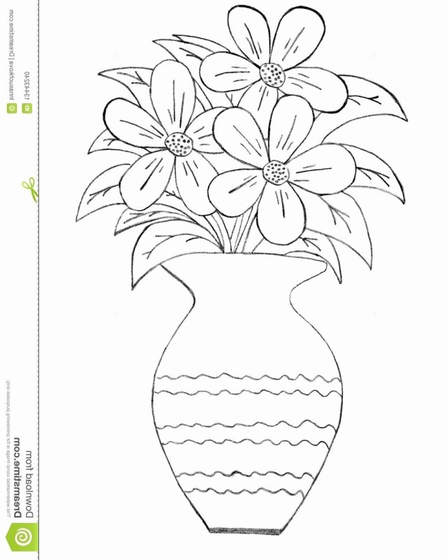 Flower Pot Coloring Page Coloring Pages For Kids Flowers In A Vase With Flower Pot Coloring