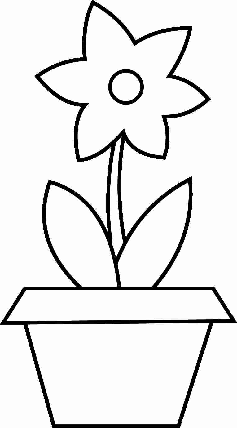 graphic relating to Flower Pot Printable called Flower Pot Coloring Webpage Flower Pot Coloring Web site Printable