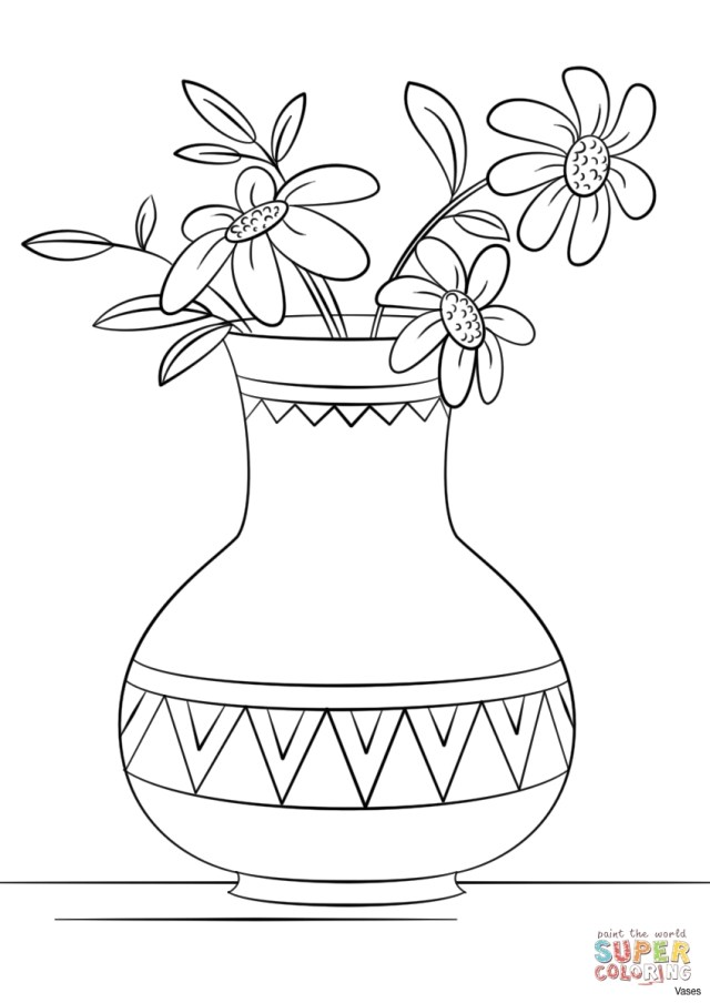 Flower Pot Coloring Page Free Printable Flower Pot Coloring Pages To Print Best Image Color