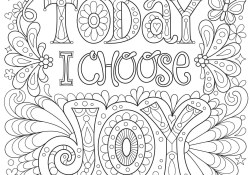 Free Coloring Pages For Adults Coloring Page Free Adult Coloring Pages Today I Choose Joy Page