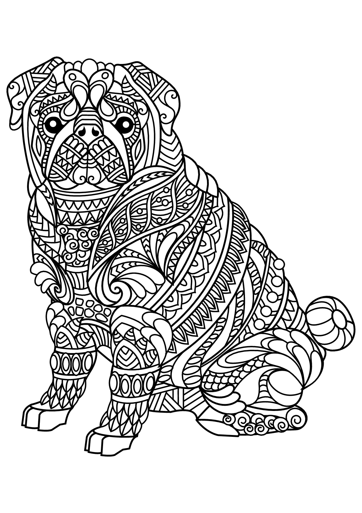 25 Beautiful Picture Of Free Dog Coloring Pages Birijusrhbirijus: Coloring Pages Of Animals Dogs At Baymontmadison.com
