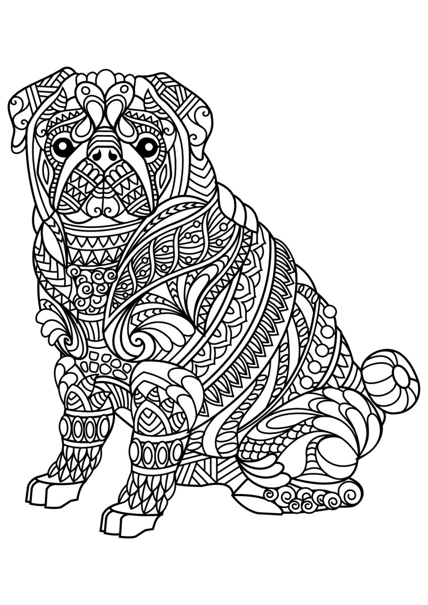 Free Dog Coloring Pages Free Book Dog Bulldog Dogs Adult