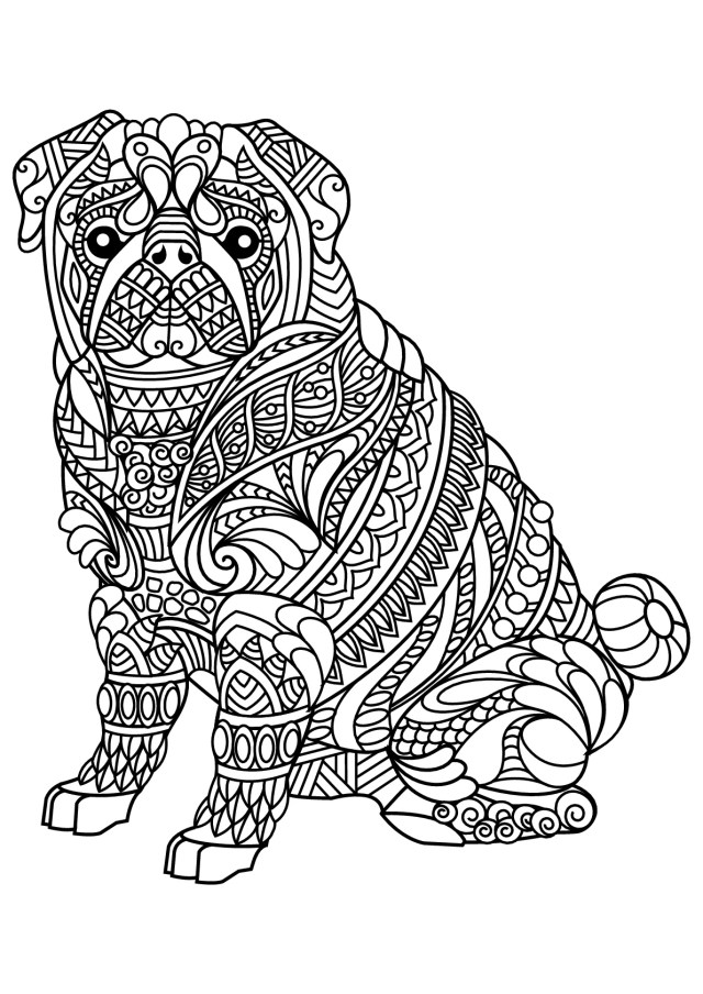 Free Dog Coloring Pages Free Book Dog Bulldog Dogs Adult Coloring Pages