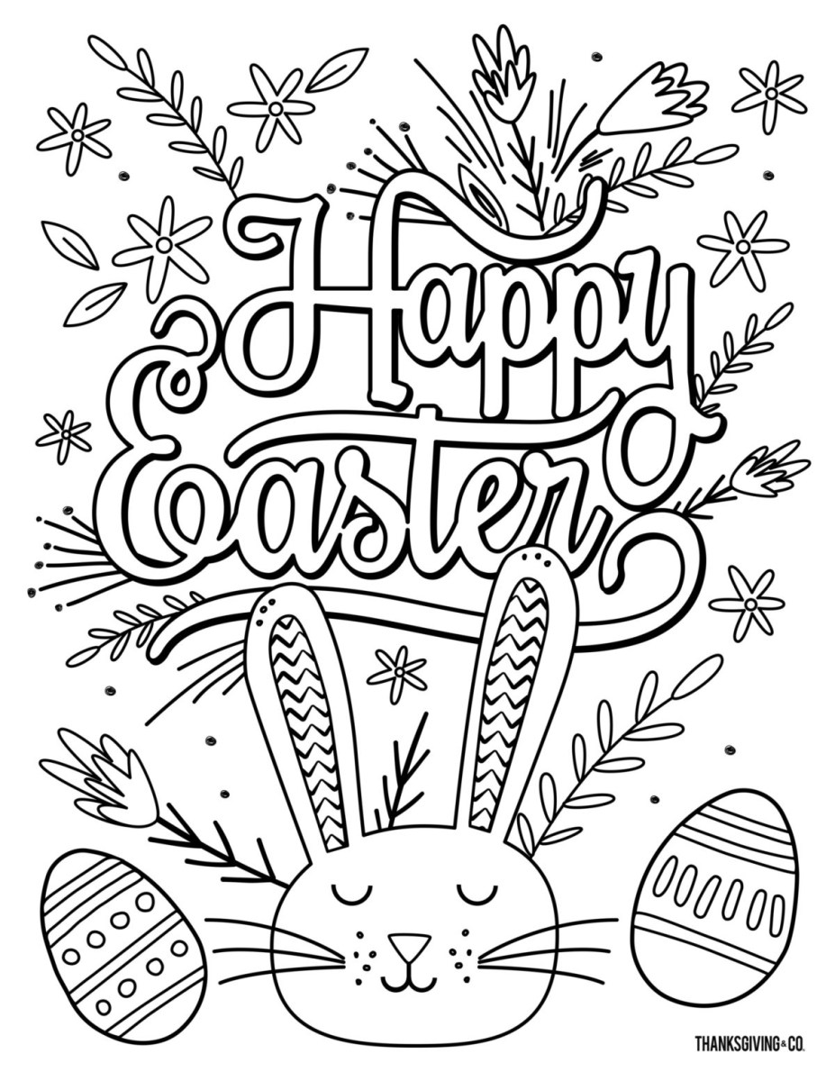 61 Outstanding Free Easter Coloring Pictures – Approachingtheelephant | 1200x927