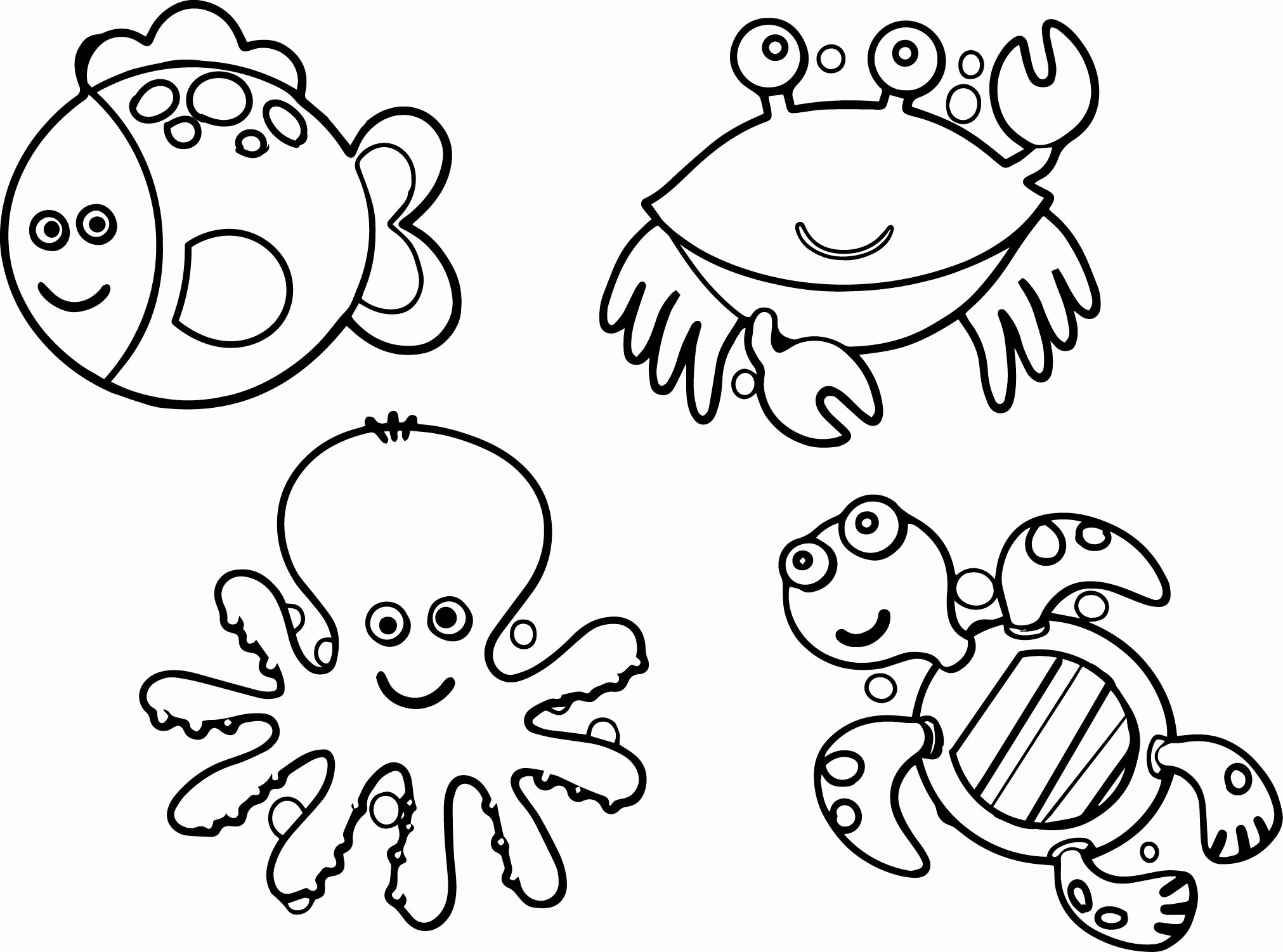 photo about Ocean Animals Printable named Cost-free Printable Animal Coloring Internet pages Printable Animal