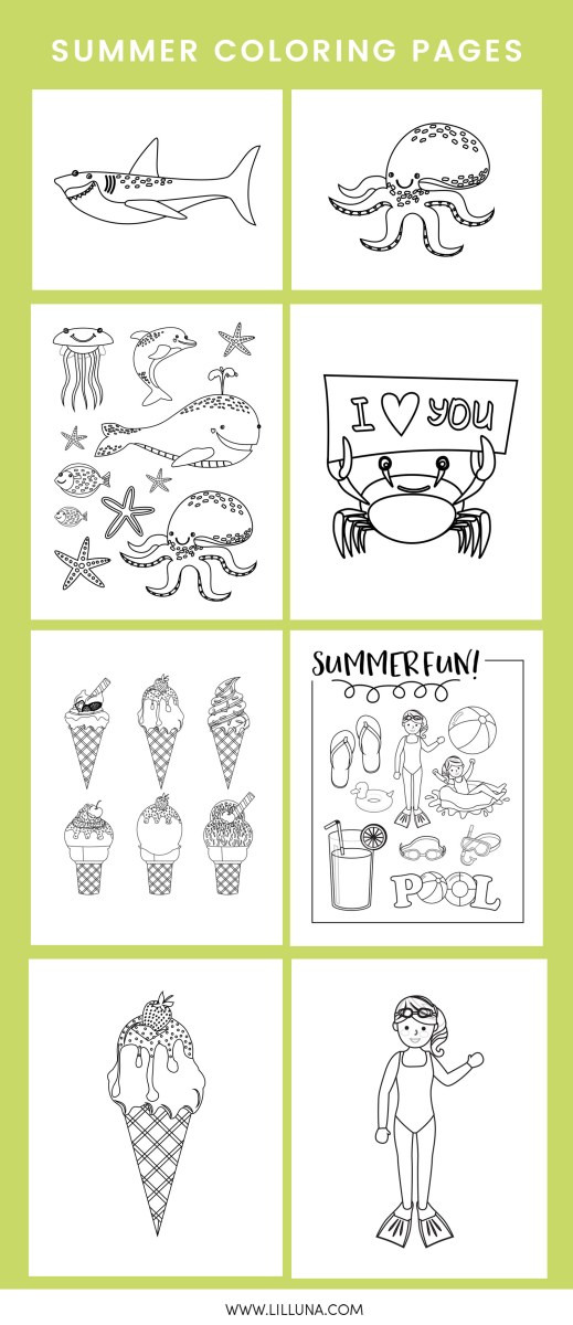 Coloring Pages Of The Beach Free Printable Summer Beach Coloring ... | 1200x519