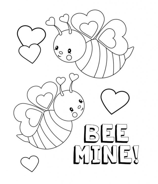 Free Valentines Day Coloring Pages Valentines Coloring Pages Happiness Is Homemade