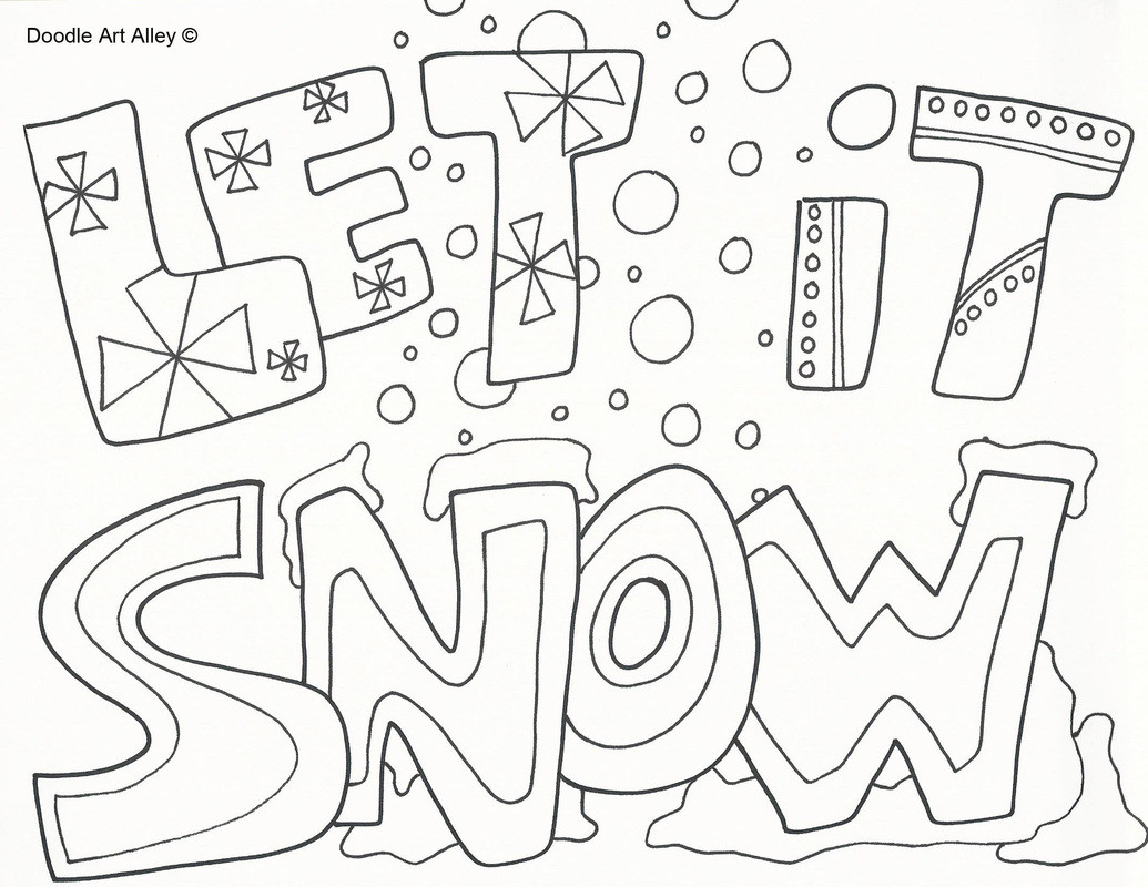 Free Winter Coloring Pages Coloring Page Free Winter ...