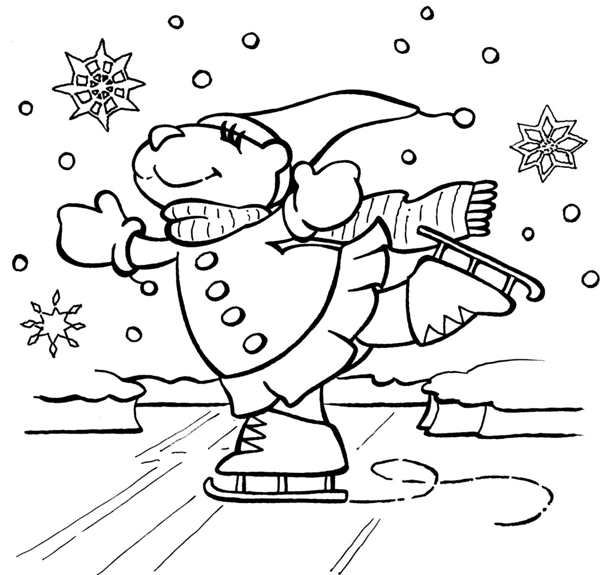 Free Winter Coloring Pages Free Winter Coloring Pages ...