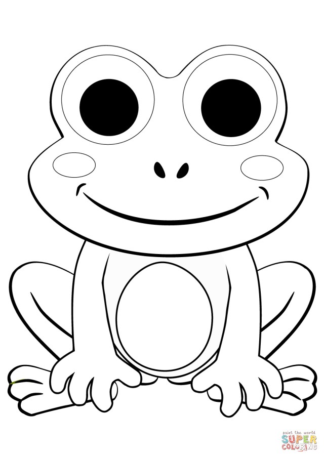 23+ Exclusive Image of Frog Coloring Page - birijus.com