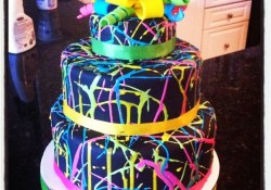 Glow In The Dark Birthday Cake Glow In The Dark Cake For A Glow In The Dark Party Use Florescent