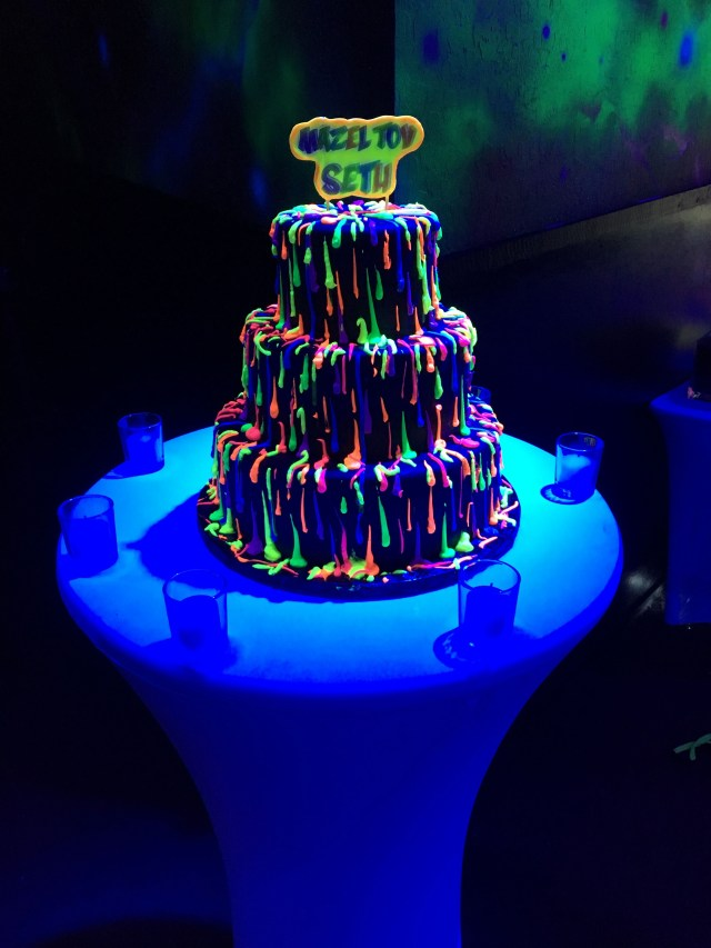 Glow In The Dark Birthday Cake Wow Your Guests With A Glow In The Dark Party Topped Off With A