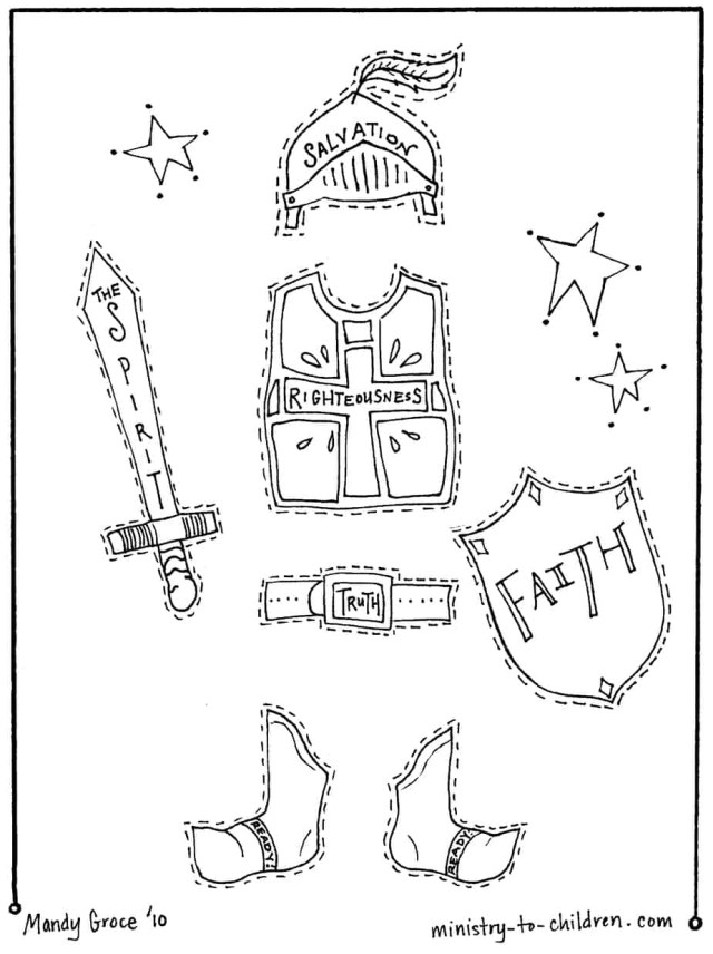 God Coloring Pages Armor Of God Coloring Pages