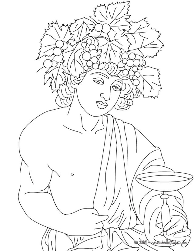 God Coloring Pages Dionysus The Greek God Of Wine Coloring Pages Hellokids