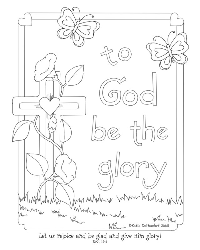 God Coloring Pages Glory Of The Lord Coloring Page Karlas Korner