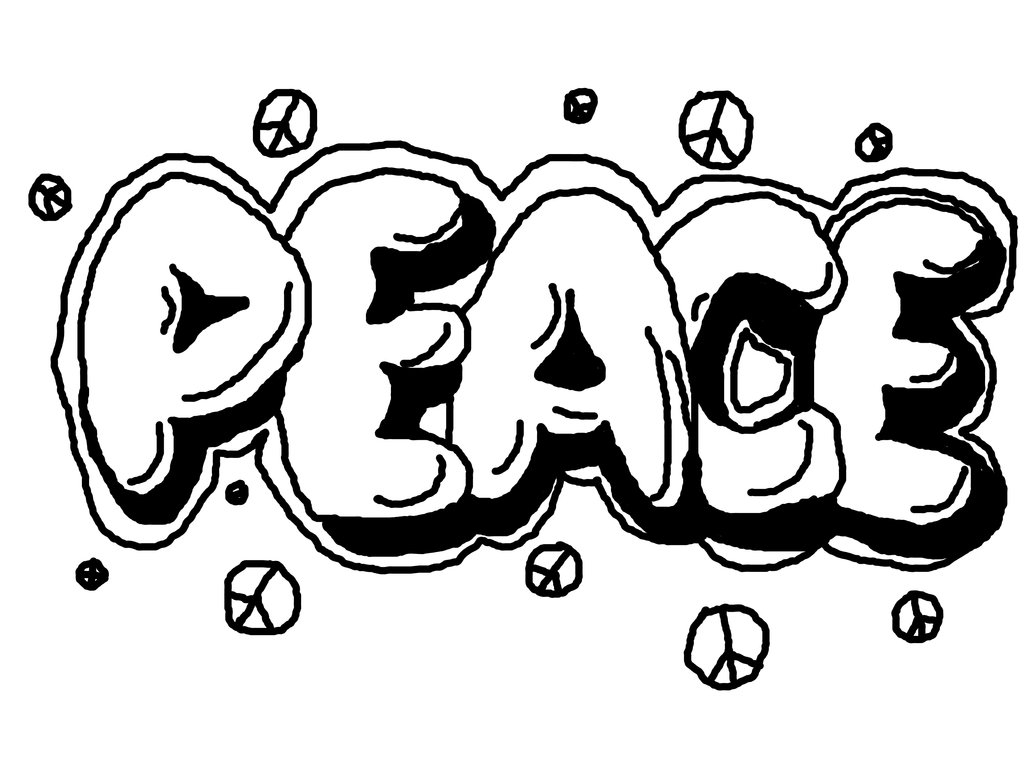 Free Printable Peace Sign Coloring Pages | 768x1024