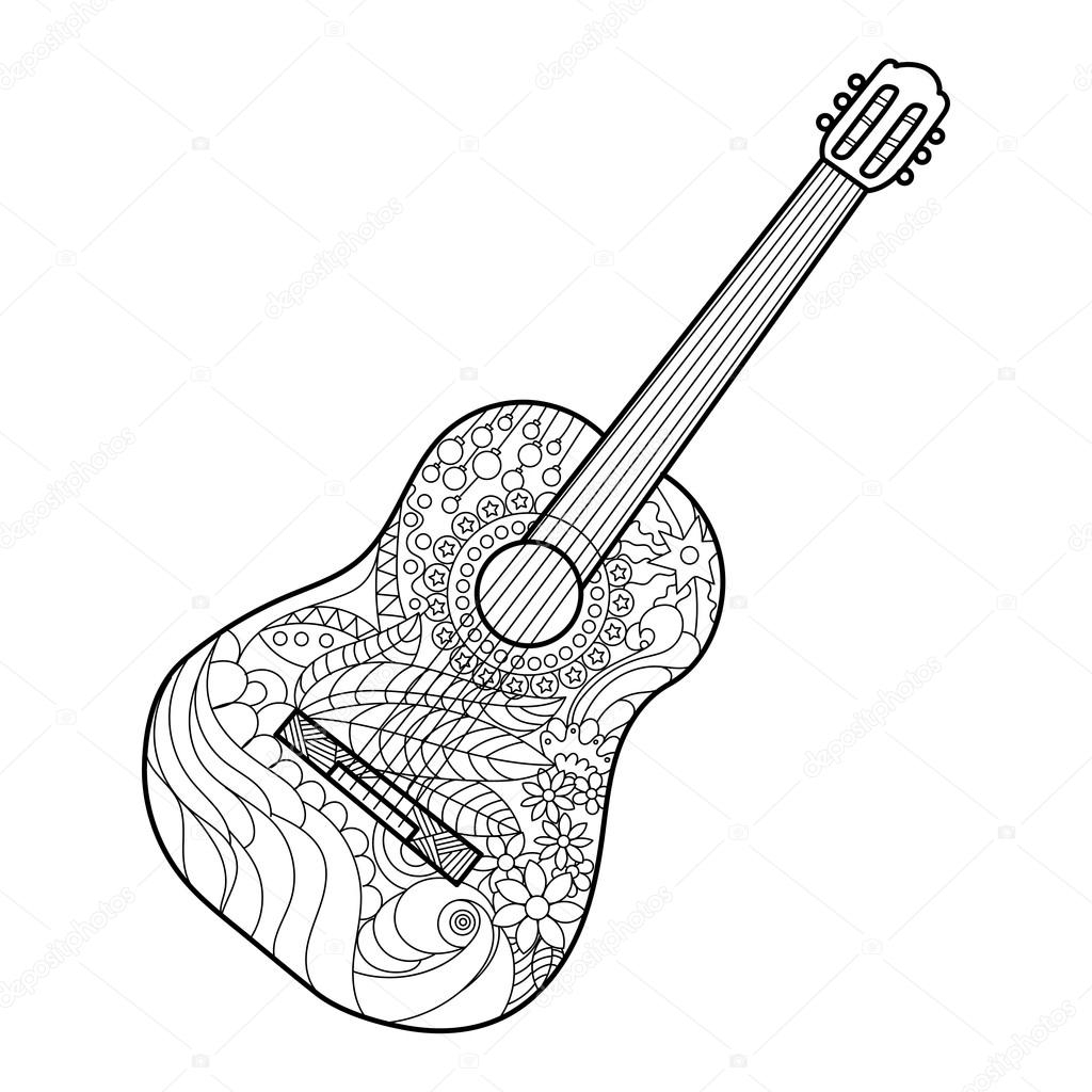 23 Creative Picture Of Guitar Coloring Page Birijusrhbirijus: The Guitar Coloring Pages At Baymontmadison.com