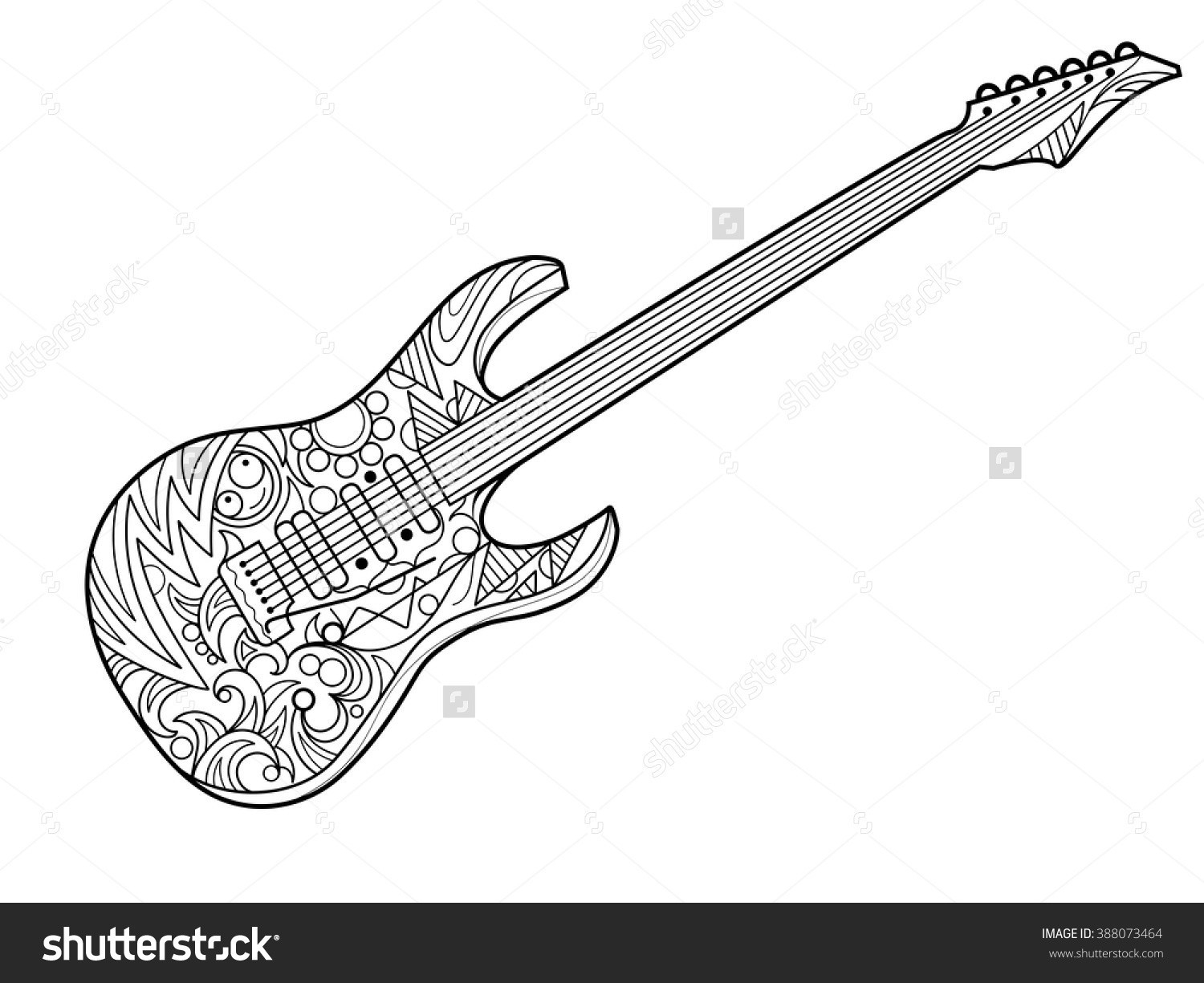 23 Creative Picture Of Guitar Coloring Page Birijusrhbirijus: Guitar Mandala Coloring Pages At Baymontmadison.com