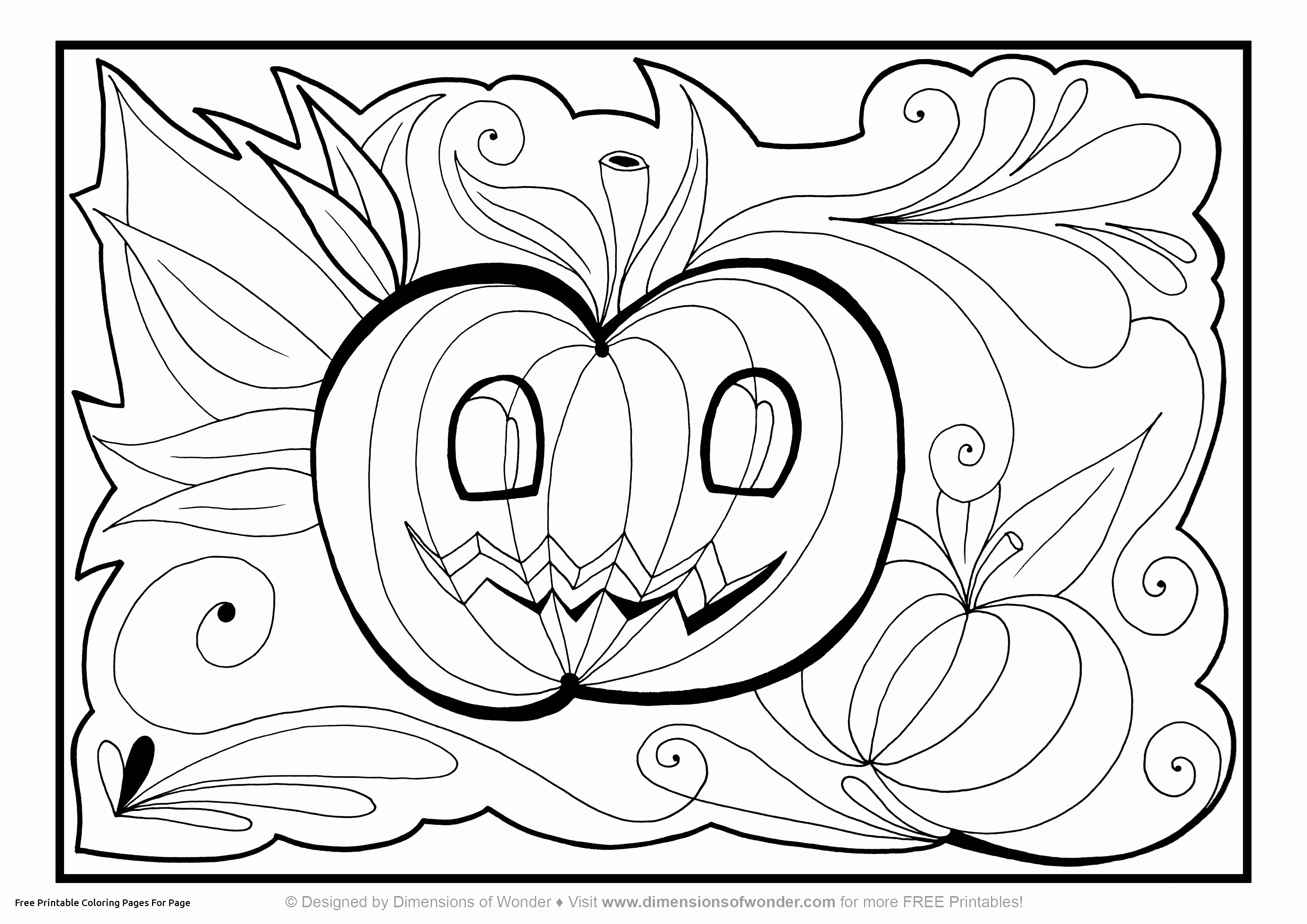 - Halloween Coloring Pages Pdf Pumpkin Color Pages Awesome