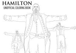 Hamilton Coloring Pages Hamilton Coloring Book Printable Download Unofficial Broadway Etsy