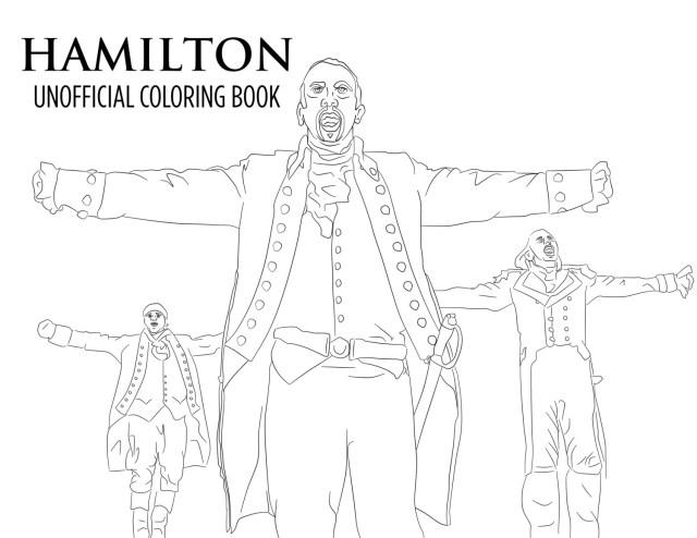 Hamilton Coloring Pages Hamilton Coloring Book Printable Download Unofficial Broadway Etsy